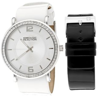 Kenneth Cole Reaction Womens White Genuine Leather Watch