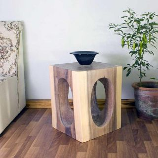 Hand carved Wooden Windows 16x16 inch Cube End Table (Thailand) Today