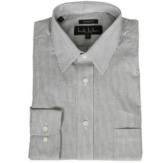 Nicole Miller Mens Black Stripe Dress Shirt