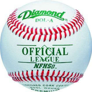 Diamond DOL A NFHS Official League Leather Baseballs