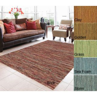 Bellatrix Hand Woven Wool Brick Rug (36 x 56)