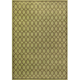 Miramar Green/ Brown Geometric Area Rug (67 x 96)