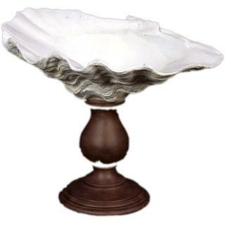 Urban Trends Collection Large White Resin Seashell Vase on Stand Today