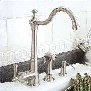 Faucetland 006001980 Brushed Nickel Single Handle Kitchen Faucet with