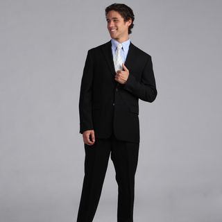 Nautica Mens Black Herringbone 2 piece Suit