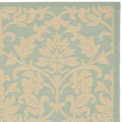 Poolside Aqua/ Cream Indoor Outdoor Rug (8 x 112)