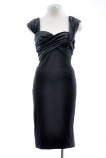 Tadashi Collection Black Contrast Sheath Cocktail Dress 8