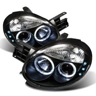 Dodge Neon 2003 2004 2005 Halo LED Projector Headlights   Black
