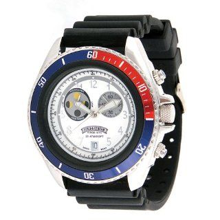 Field & Stream Mens F186GWSKT Ocean Angler Black Rubber Strap Watch