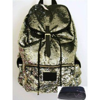 Victoria Secret Pink BackPack Schoolbag Rainbow Sequin PINK Limited