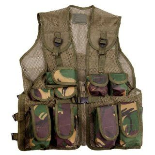 Kids Army Camouflage Assault Vest   Fits Ages 5 13 Yrs