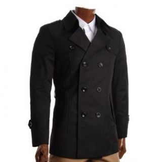 FLATSEVEN Mens Slim Fit Designer Casual Trench Coat (CT201
