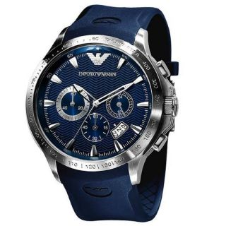 Emporio Armani Mens Blue Chronograph Sport Watch