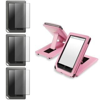 Pink Leather Case/ Screen Protector for  Nook Color