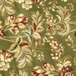 Lyndhurst Collection Floral Sage Rug (7 Round)