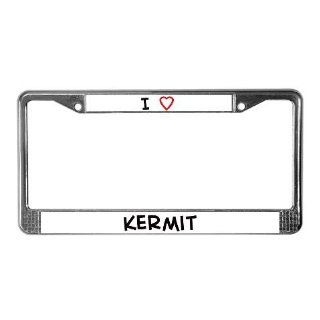 I Love Kermit License Plate Frame by  Sports