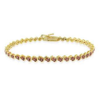 DB Designs 18k Two tone Gold over Silver Champagne Diamond S Tennis