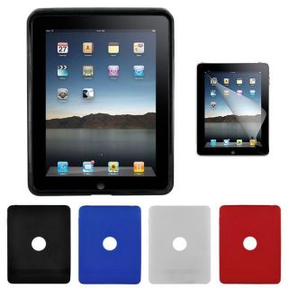 TPU Rubber iPad Case and Screen Protector