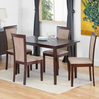 Spain 5 piece Dark Brown Modern Dining Set