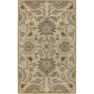 Hand tufted Coliseum Beige Wool Rug (76 x 96)