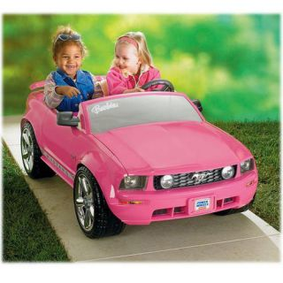 Fisher Price Barbie Ford Mustang Power Wheels Car