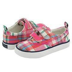 Polo Ralph Lauren Kids Marinas Ez (Infant/Toddler) Pink Madras Plaid