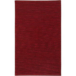 Hand woven Burnt Red Wool Rug (8 x 10)