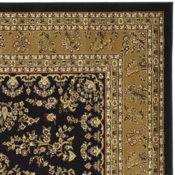 Lyndhurst Collection Black/ Tan Rug (8 Square)
